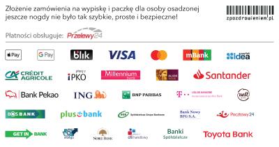 metody płatności zpozdrowieniem przelewy24 karta przelew bank