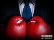 Postępowanie procesowe zpozdrowieniem serwis dwiunstancyjność rękawice bokserskie, krawat, garnitur, walka